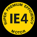 Super premium efficiency drivmotor IE4 Logo